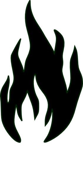 Fire white. Flames clipart black and