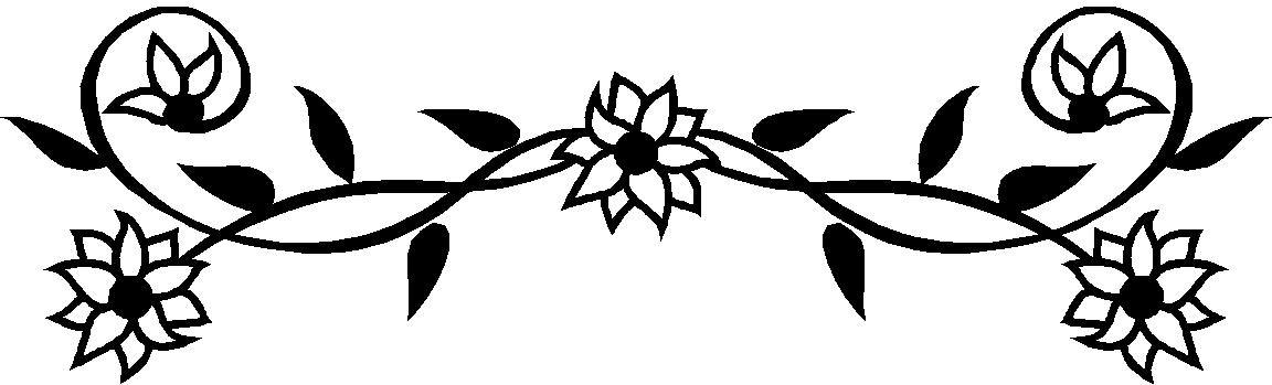 Black 20and 20white 20flower 20border 20clipart