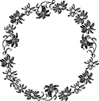 Black And White Flower Border Clipart D T Bx Te