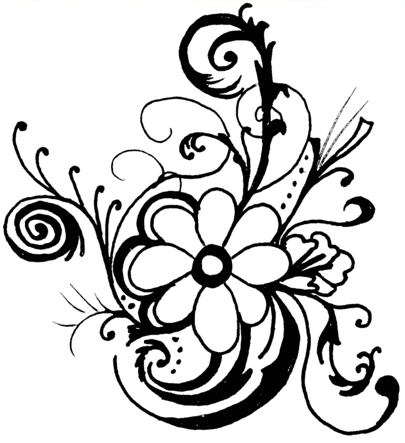 black and white flower border clipart clipart panda