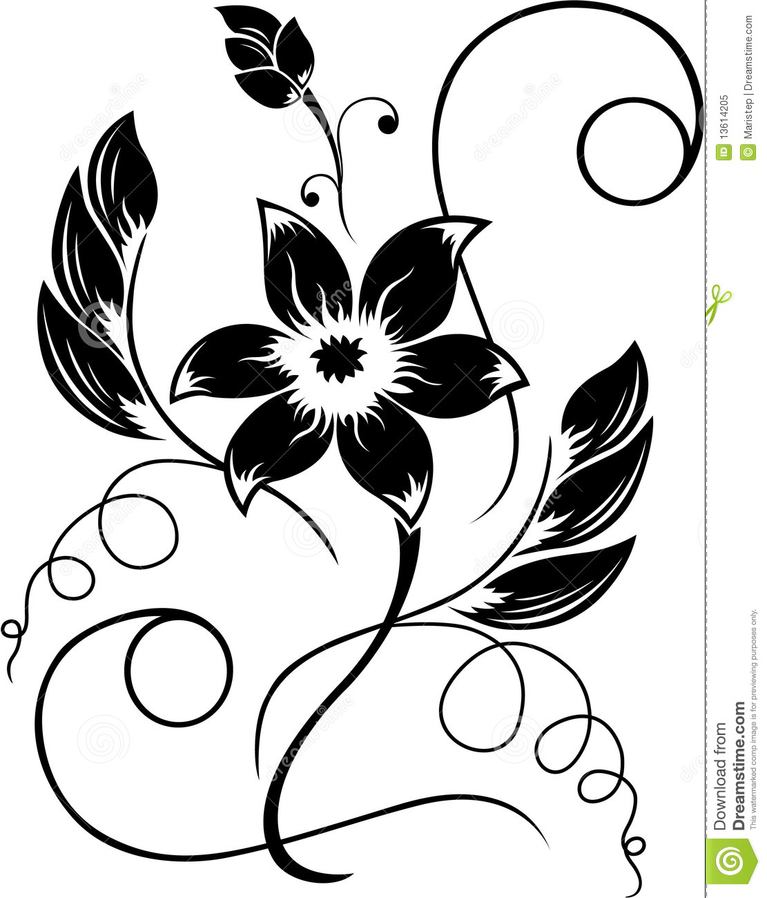 Black and white flower drawing clipart panda free clipart images black20and20white20flower20drawing thecheapjerseys Choice Image