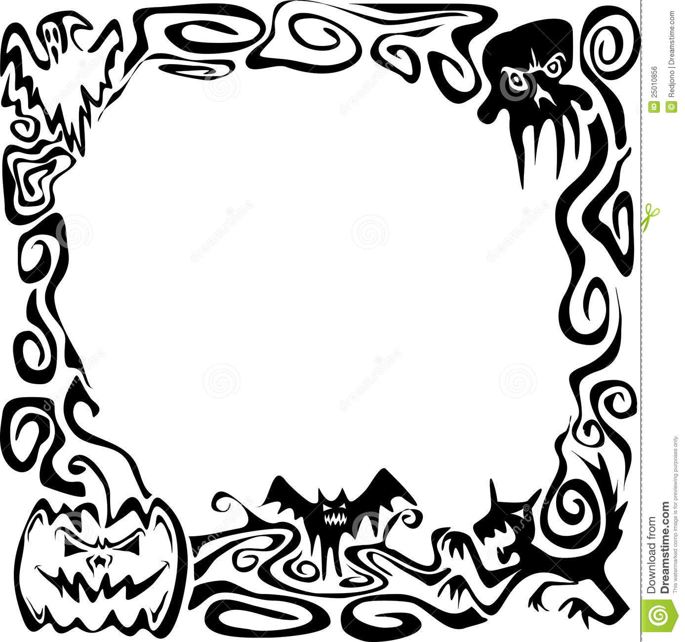 Halloween Border Black And White | Clipart Panda - Free Clipart Images