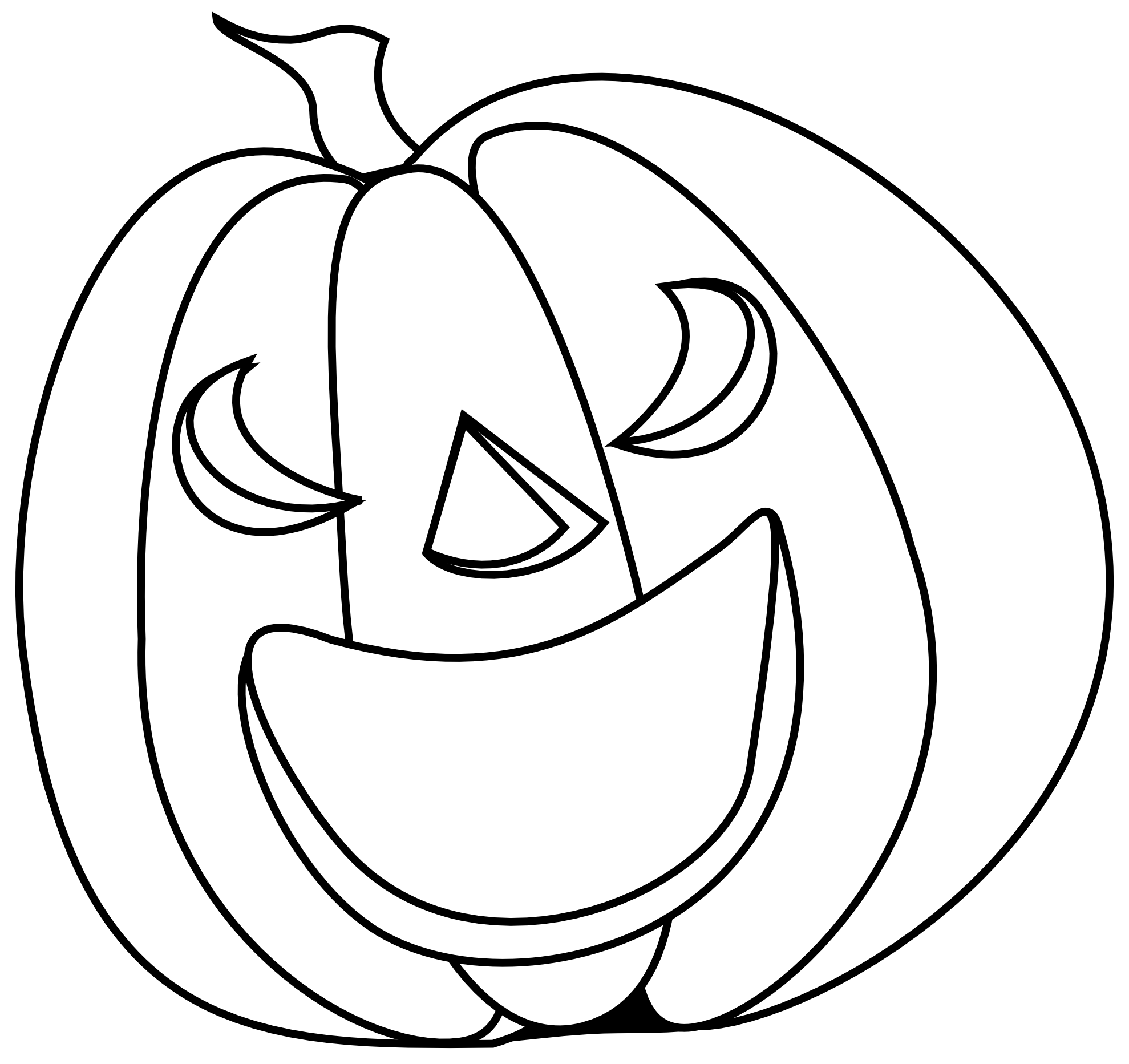 black-and-white-halloween-pumpkin-clipart-aiqbLX9iM pngHalloween Clip Art Black And White Pumpkin