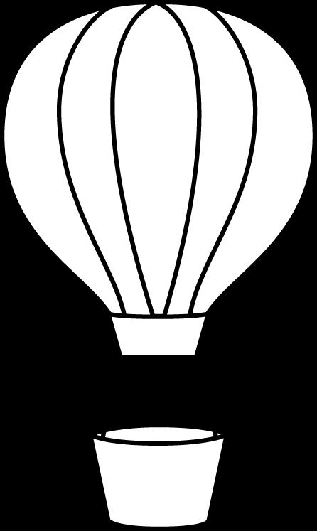 Hot Air Balloon Clipart Black And White | Clipart Panda ...