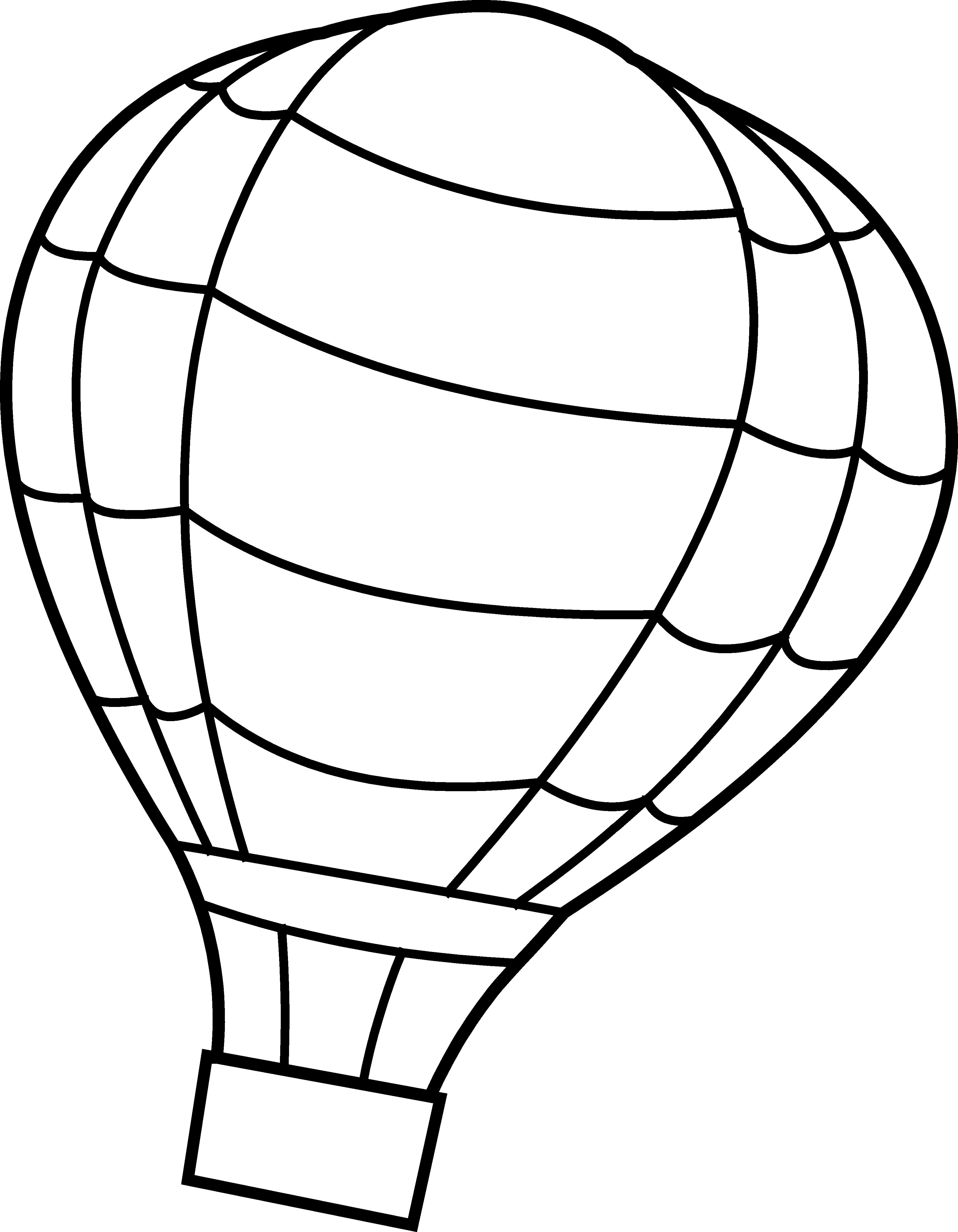Black And White Hot Air Balloon Clipart | Clipart Panda ...