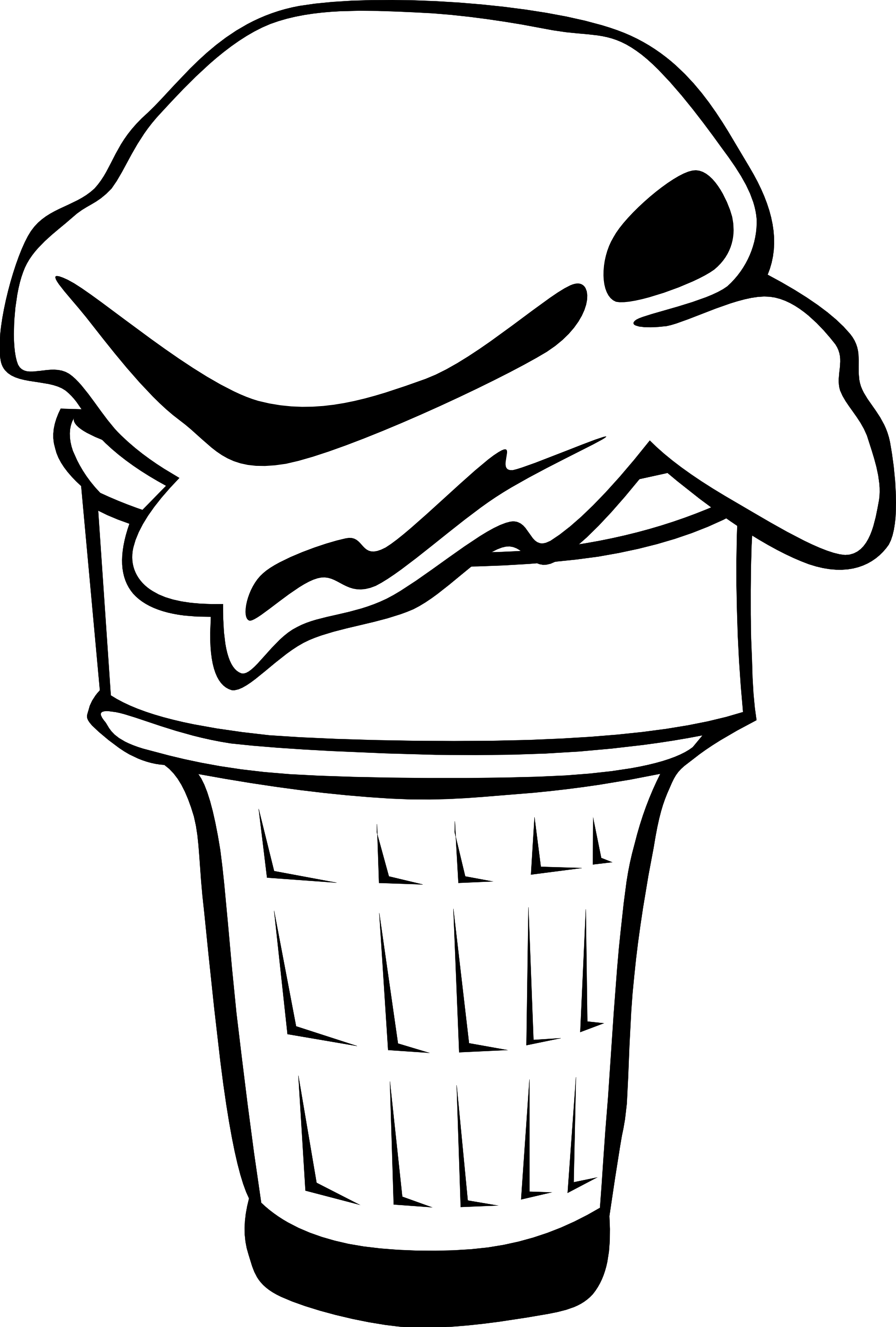 Coloring pictures of ice cream cones - Black 20and 20white 20ice 20cream 20cone 20clipart