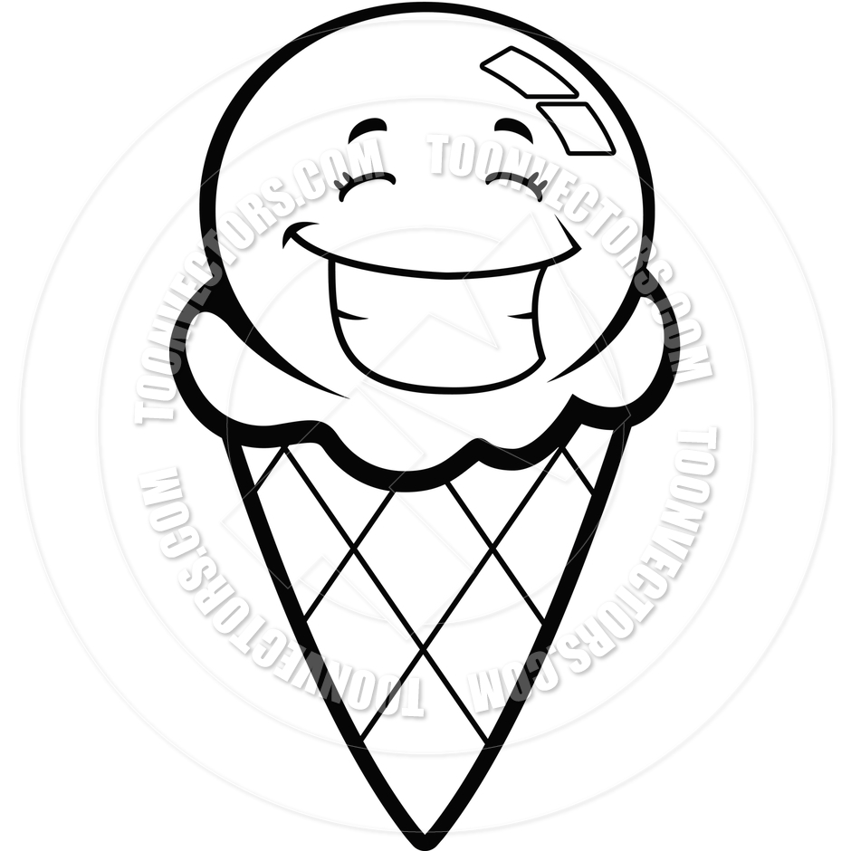 black%20and%20white%20ice%20cream%20cone%20clipart