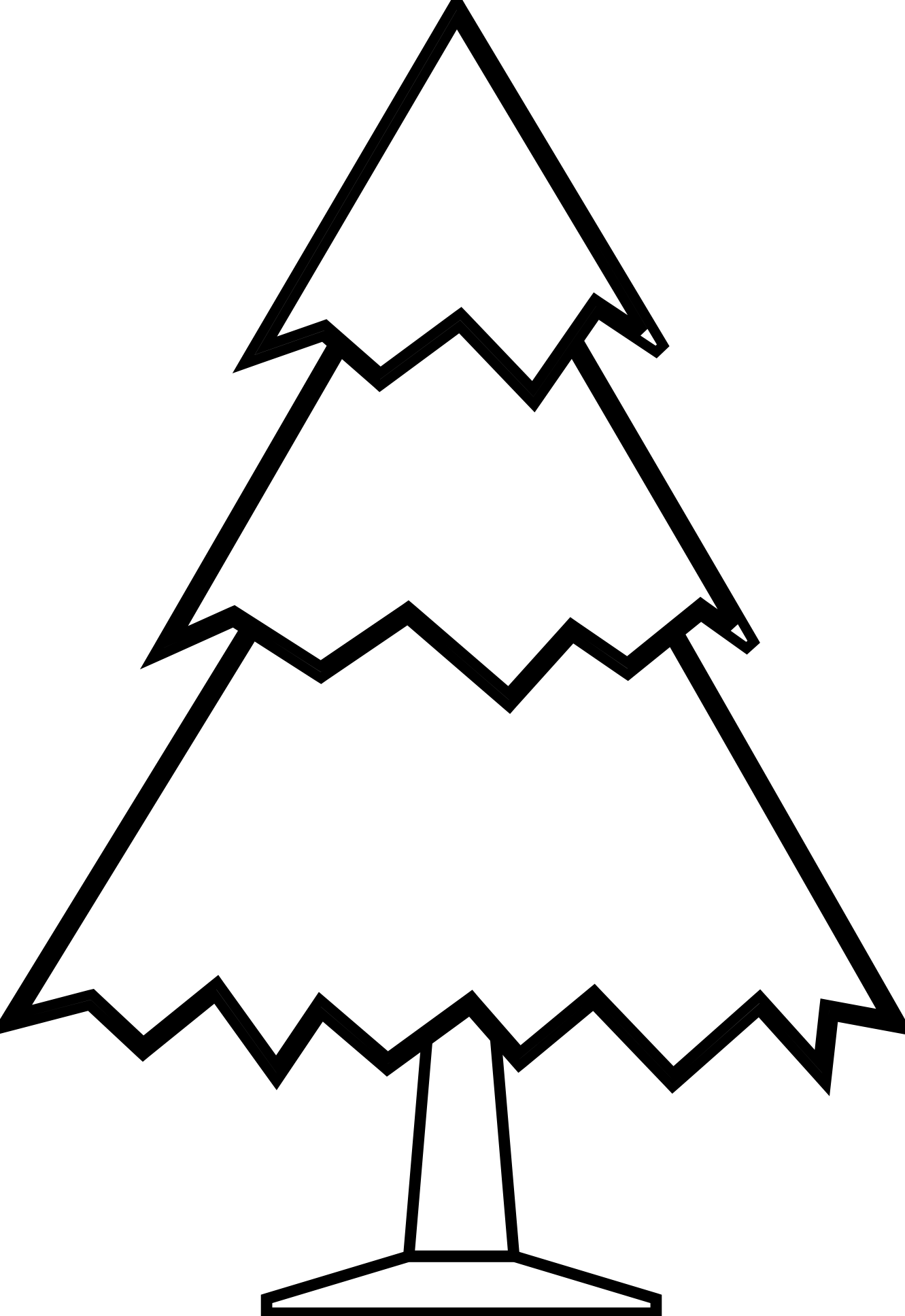 Clipart Christmas Tree Black White | Clipart Panda - Free Clipart ...