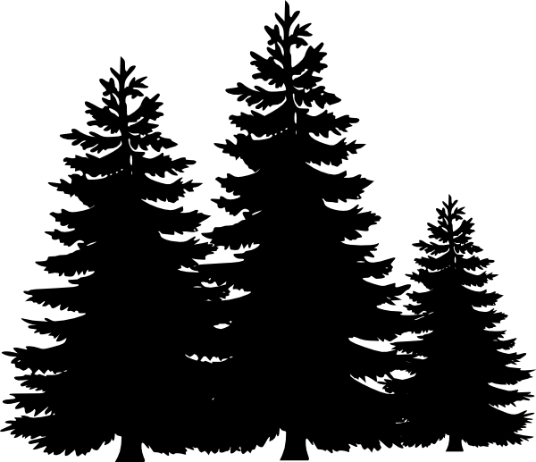 Black And White Pine Tree Clipart | Clipart Panda - Free ...