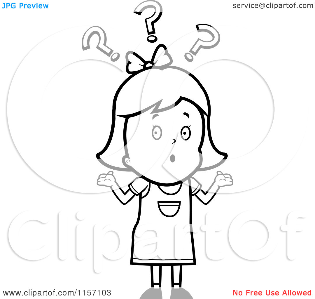 Coloring pages question mark - Black 20and 20white 20question 20mark 20clipart