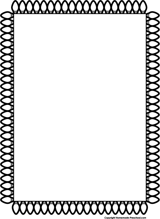 Free Christmas Clip Art Black And White Borders