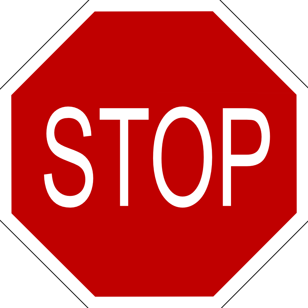 Stop Sign With Black Border | Clipart Panda - Free Clipart ...