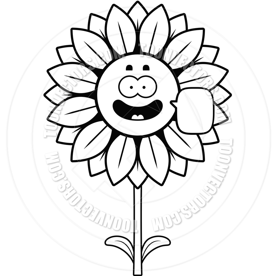 free black and white clip art sunflowers - photo #8
