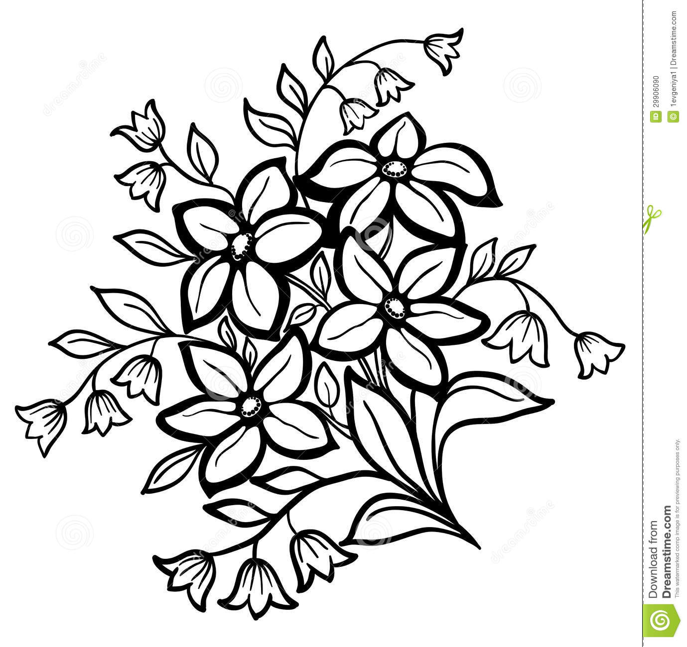 Tattoo Outlines Flowers Black And White