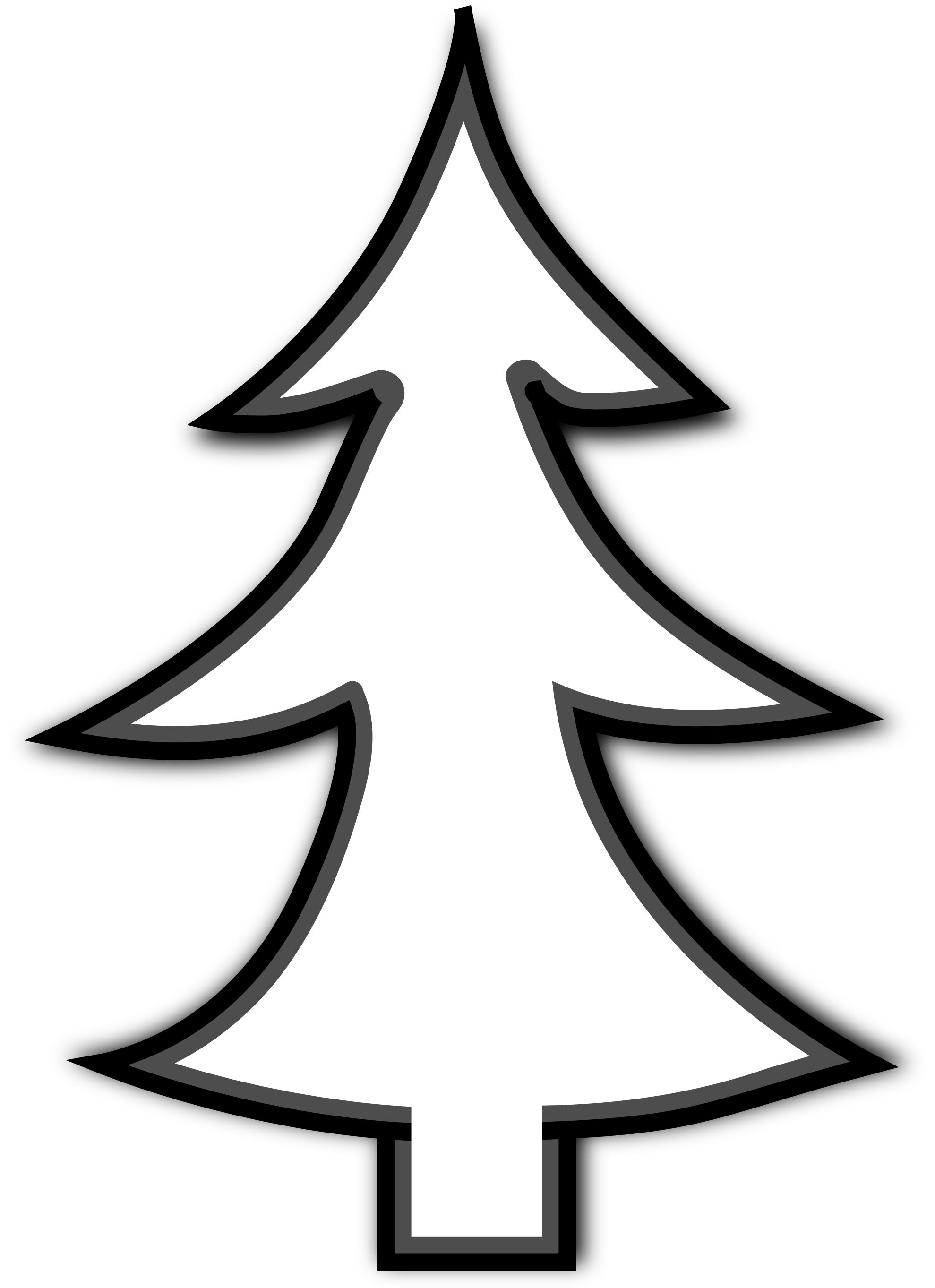 Christmas Tree Clipart Black And White | Clipart Panda - Free Clipart ...