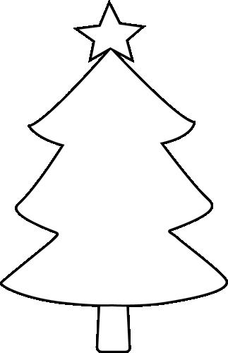Clipart Christmas Tree Black White | Clipart Panda - Free ...