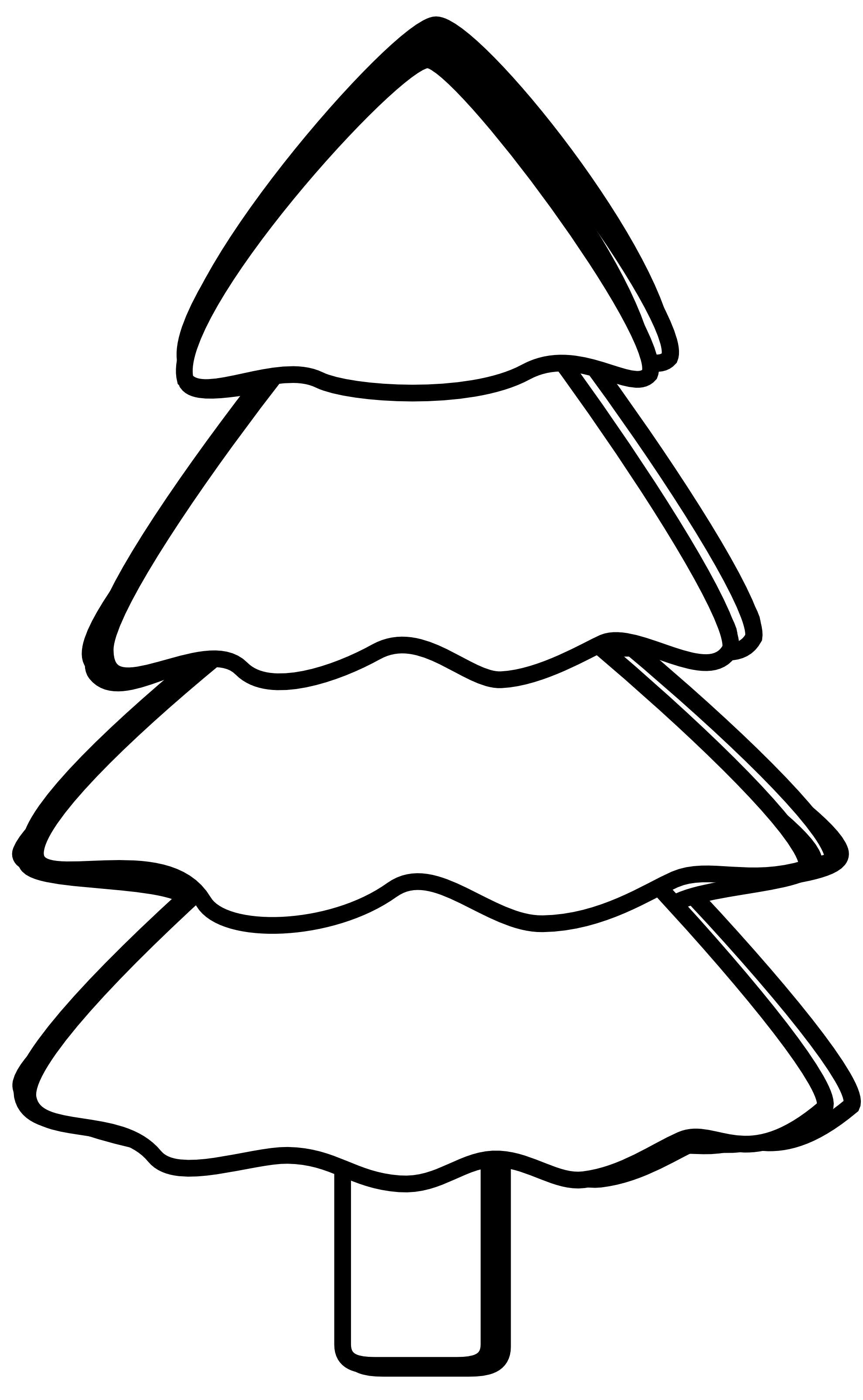 Christmas Tree Clipart Black And White | Clipart Panda ...