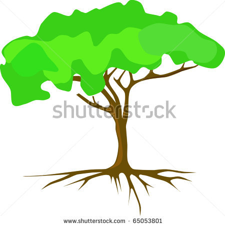 Clip Art Tree With Roots Clipart black and white tree with roots clipart panda free