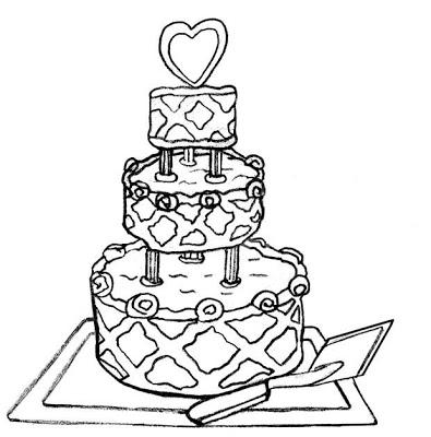 Black And White Wedding Cake Clip Art Clipart Panda