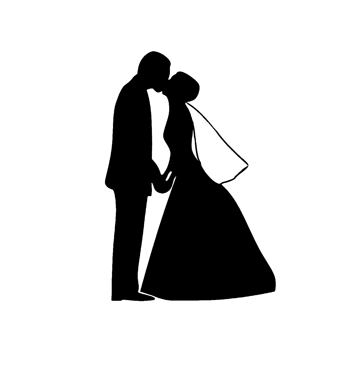 black 20and 20white 20wedding  African American Couple Silhouette