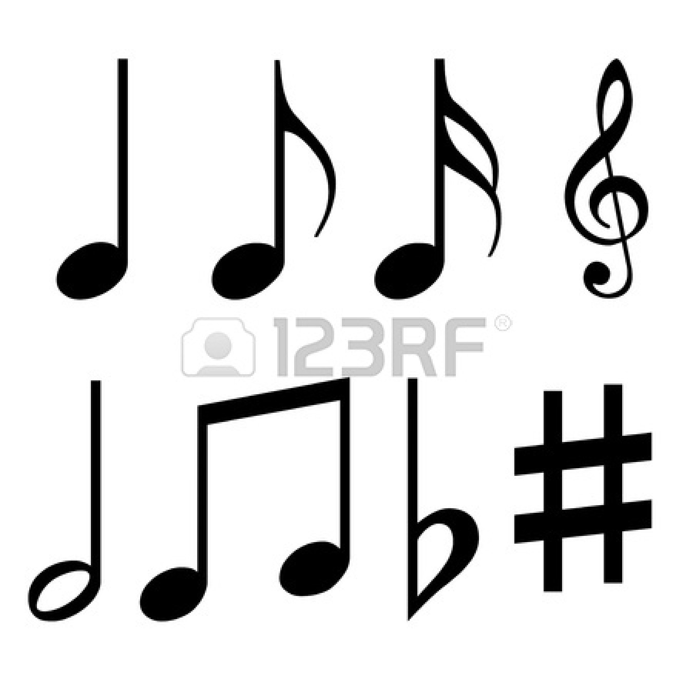 Music notes symbols names clipart panda free clipart images black20quarter20notes biocorpaavc Image collections