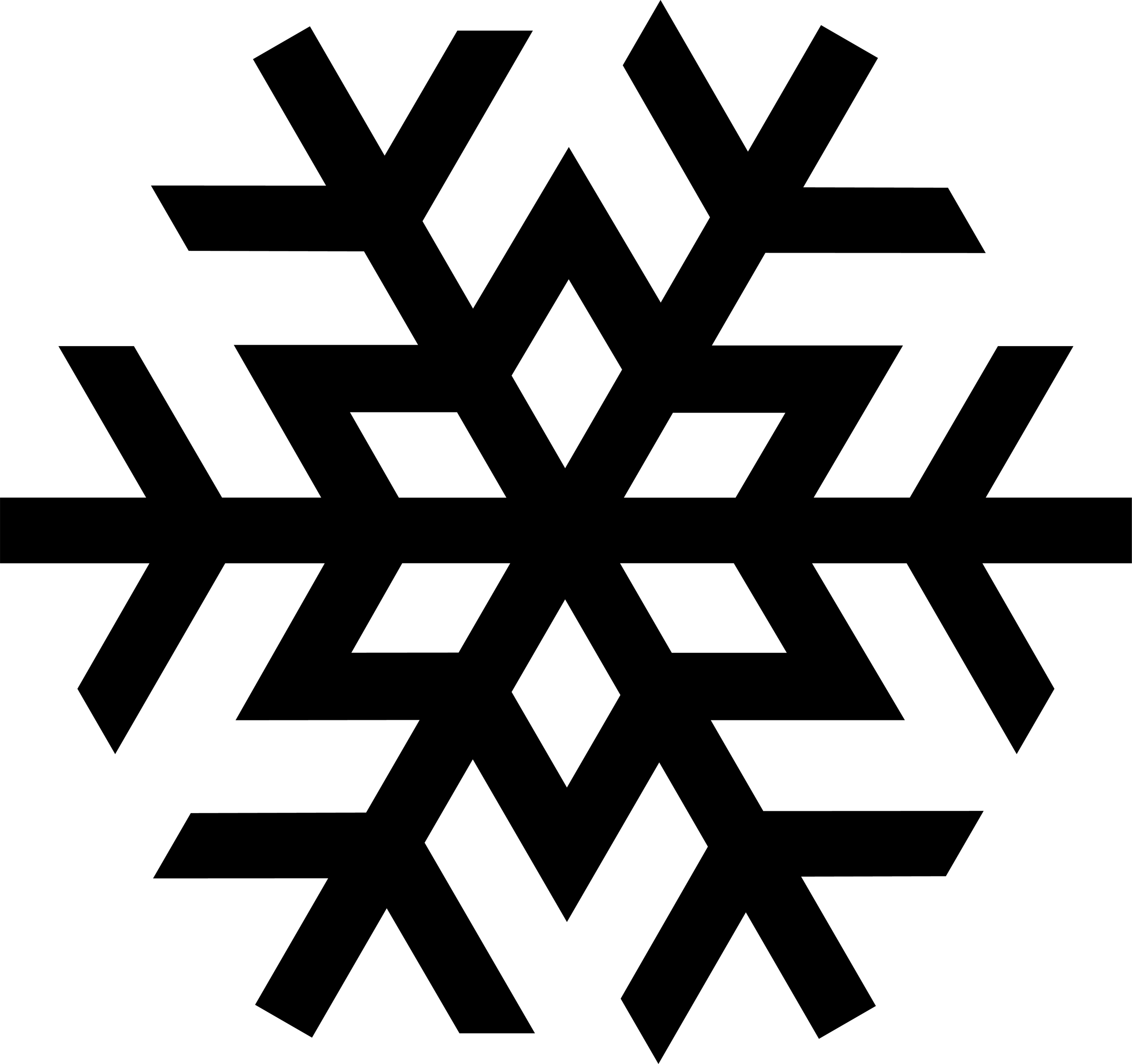 Snowflake clipart black and white panda free