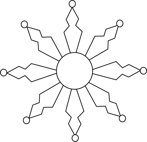 Black And White Clipart Snowflake | New Calendar Template Site