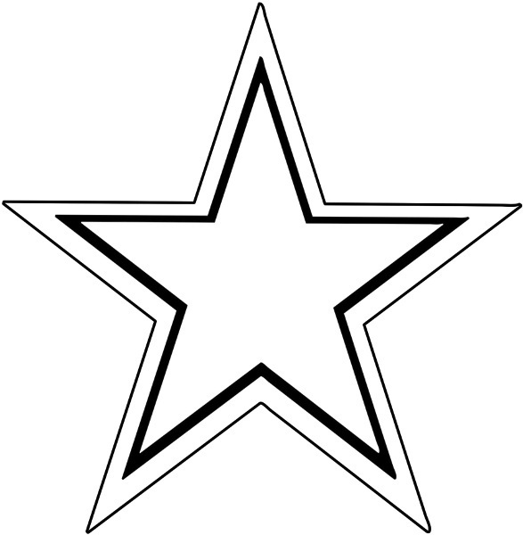 Clip Art Star Outline Star | Clipart Panda - Free Clipart ...