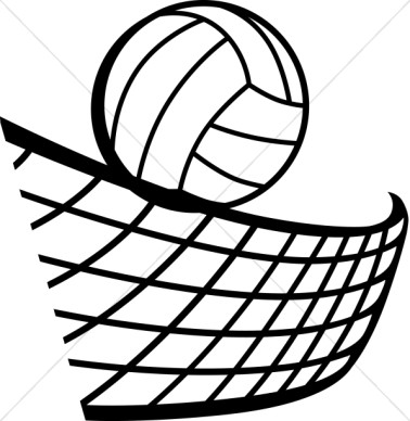 Volleyball clip art black and white