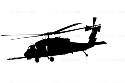 Blackhawk Helicopter Silhouette on sikorsky uh 60 black hawk