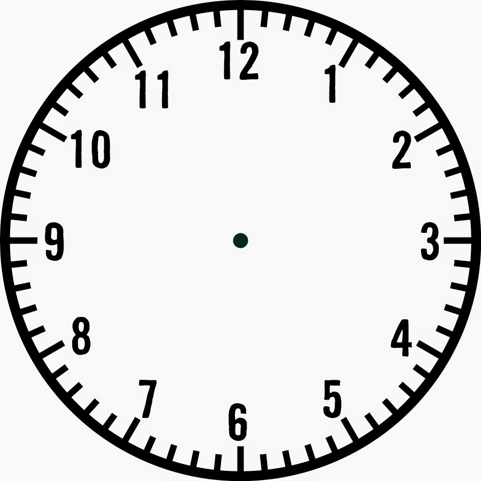 Blank Clock Template | Clipart Panda - Free Clipart Images