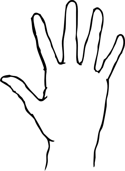 photograph relating to Hand Template Printable identified as Hand Determine Template Printable Clipart Panda - Cost-free
