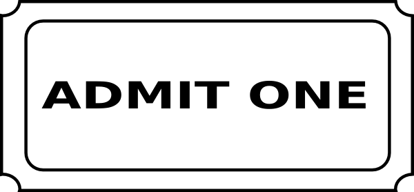 Admit One Ticket Template Clipart Panda Free Clipart Images - Admit one ticket template