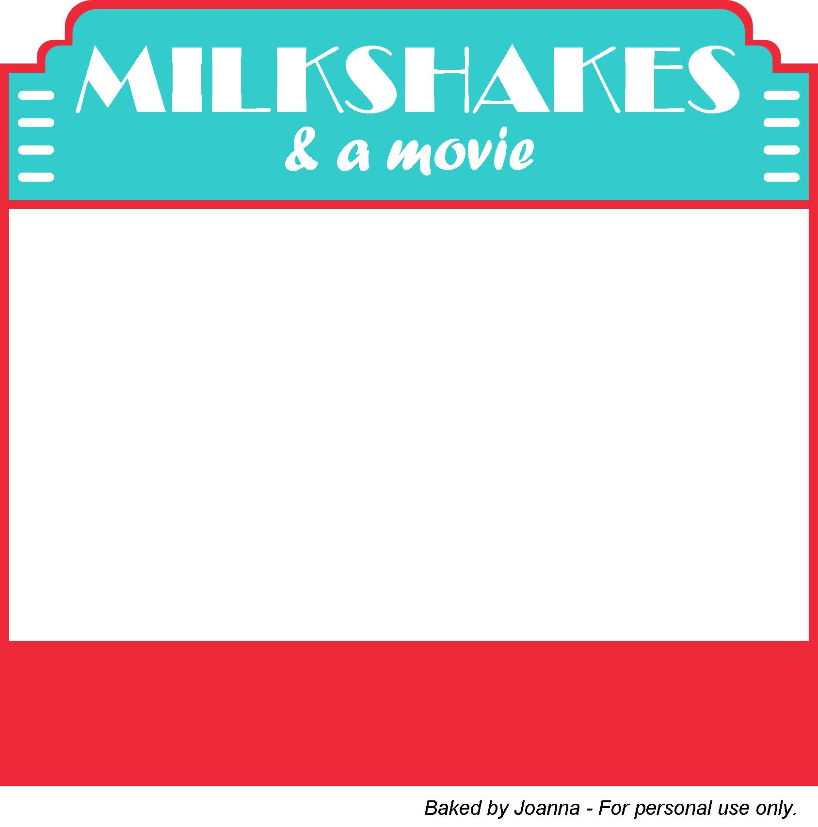 Blank Movie Invitations