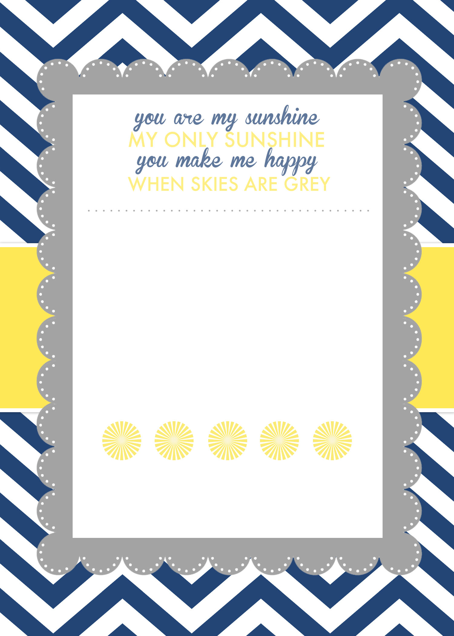 blank chevron invitation template free