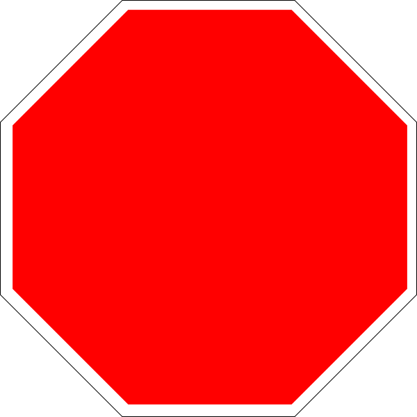 Blank stop sign clipart clipart panda free clipart images for Stop sign templates