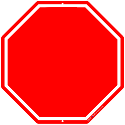 blank stop sign clipart