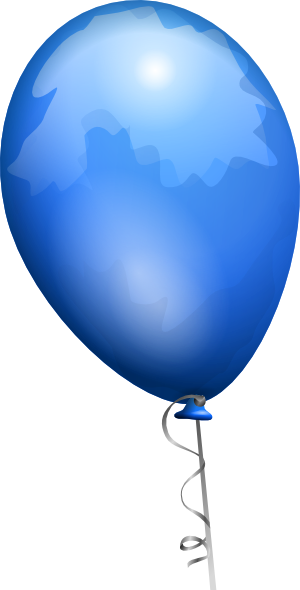 Blue balloon clipart clipart panda free clipart images