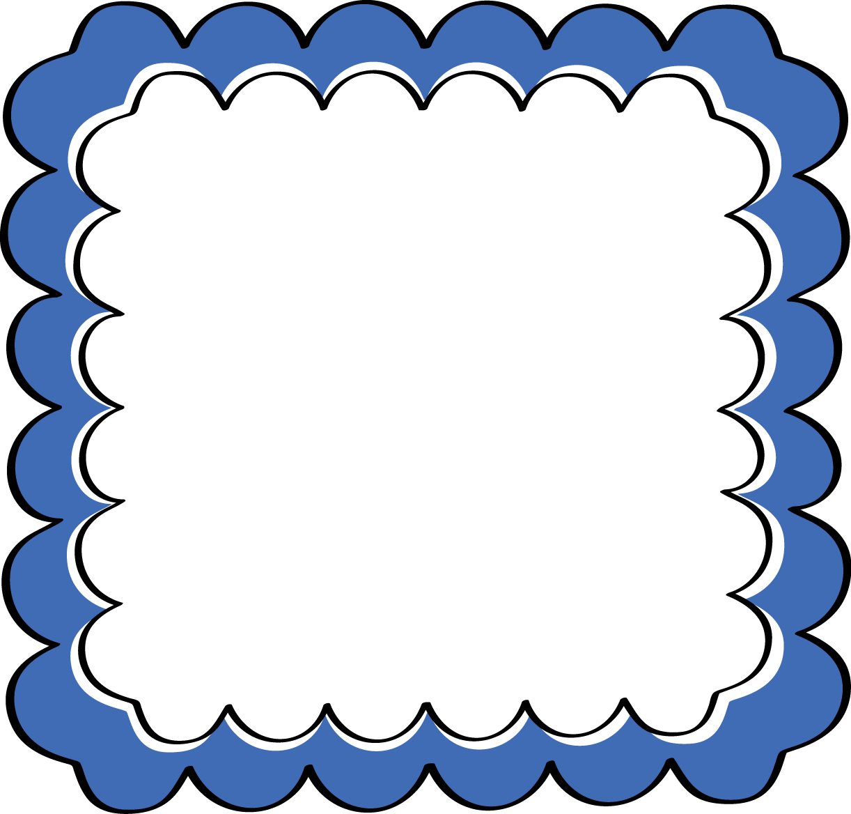 Frame clip art black and white clipart panda free clipart images - Blue 20border 20clipart