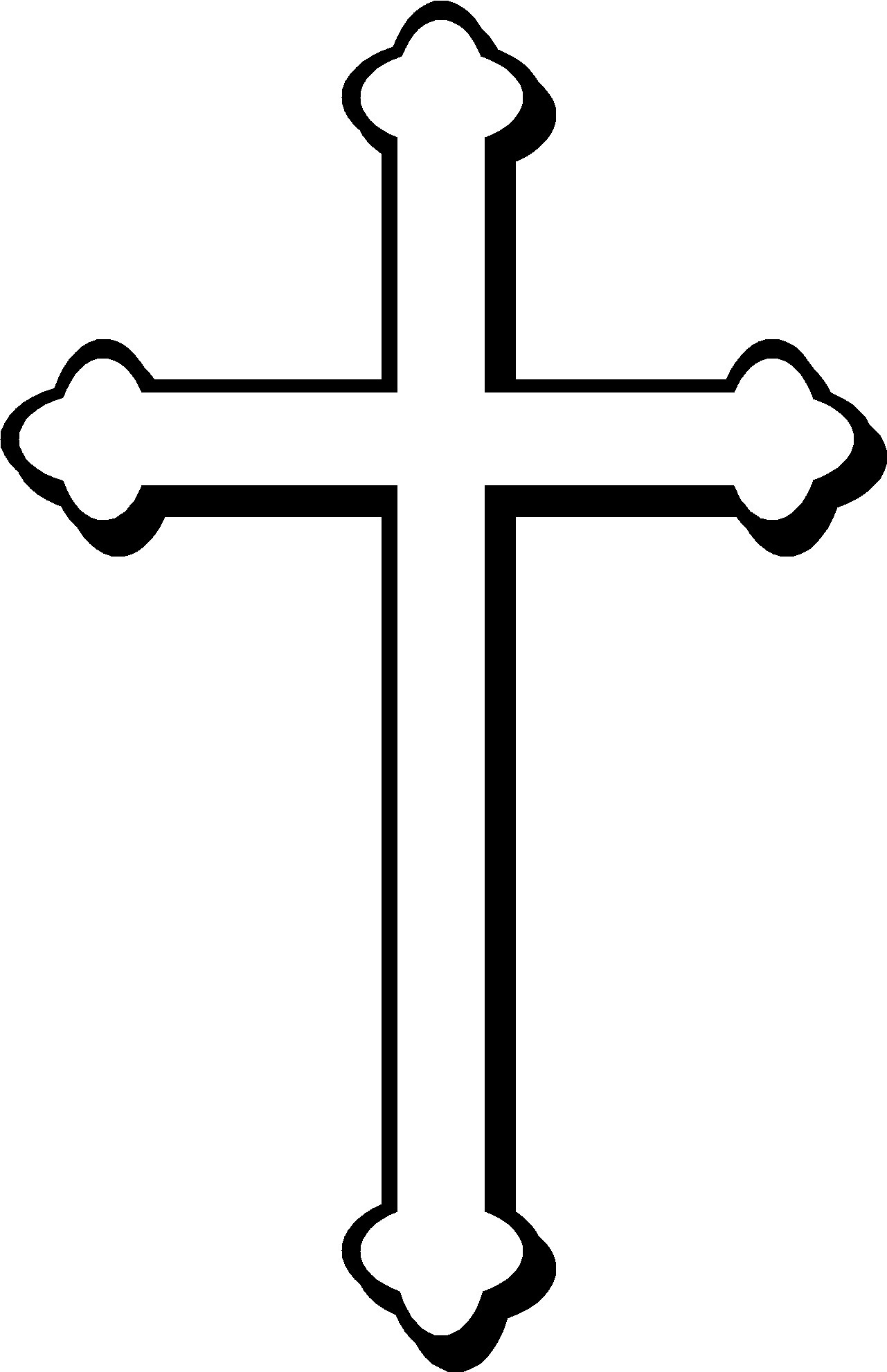 Simple Cross Line Art : Christian cross clip art designs clipart panda free