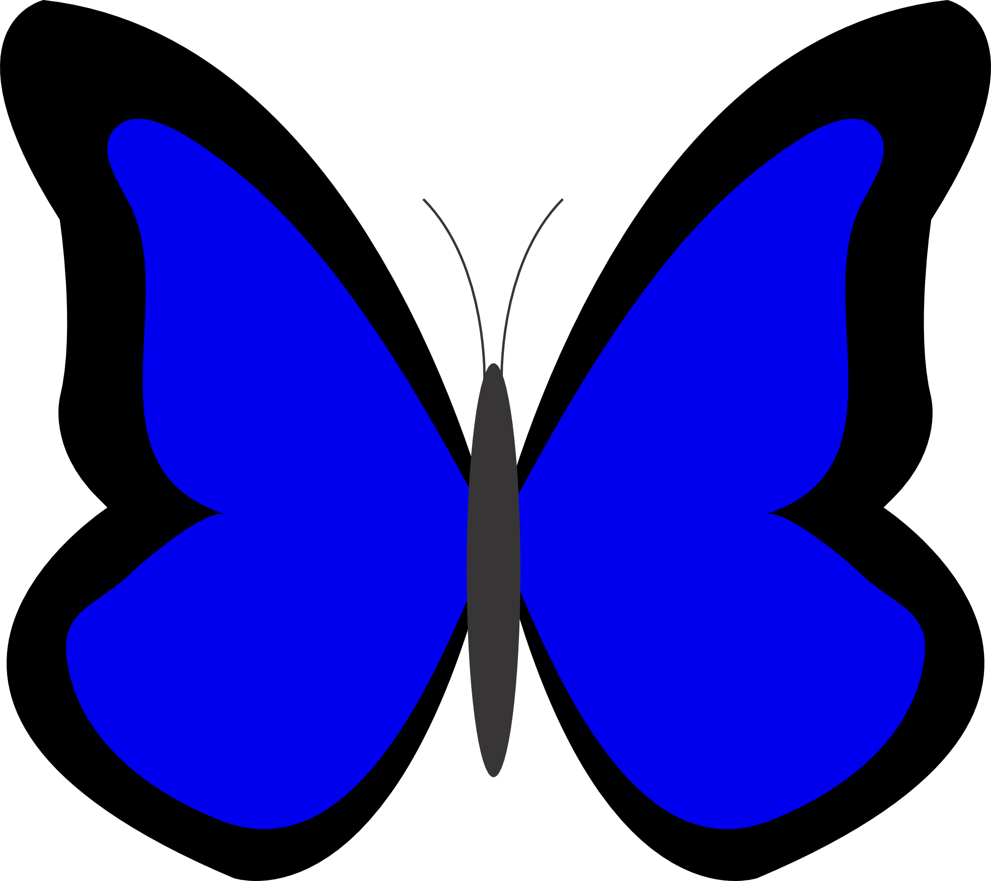 blue butterfly clipart clipart panda free clipart images rh clipartpanda com blue butterfly clipart border blue morpho butterfly clipart