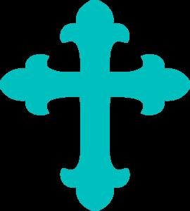 Free Blue Cross Clipart