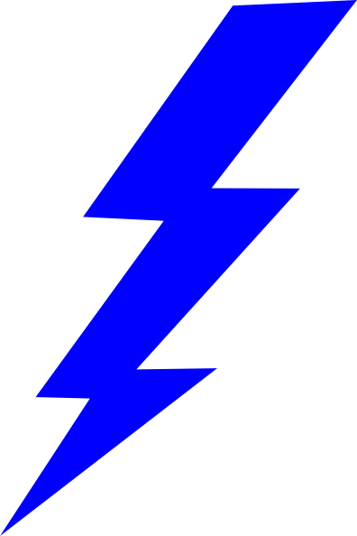 Blue Lightning Bolt Clipart | Clipart Panda - Free Clipart Images