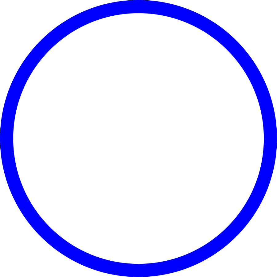 Dark Blue Circle Png blue 20line 20border 20clipart