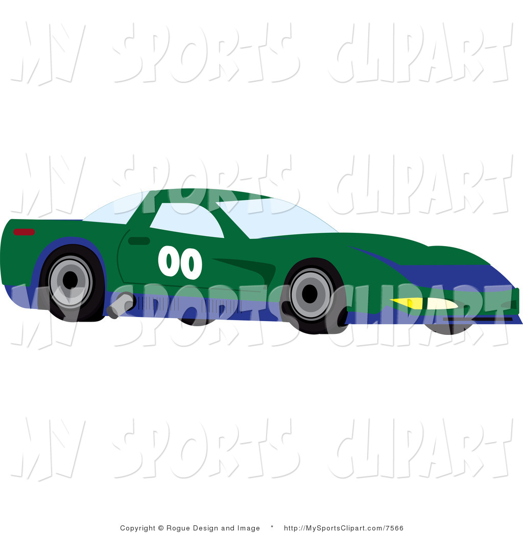 a Green Race Car with Blue  Clipart Panda  Free Clipart