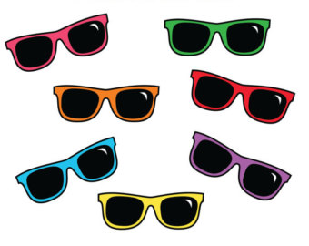 Blue Sunglasses Clipart