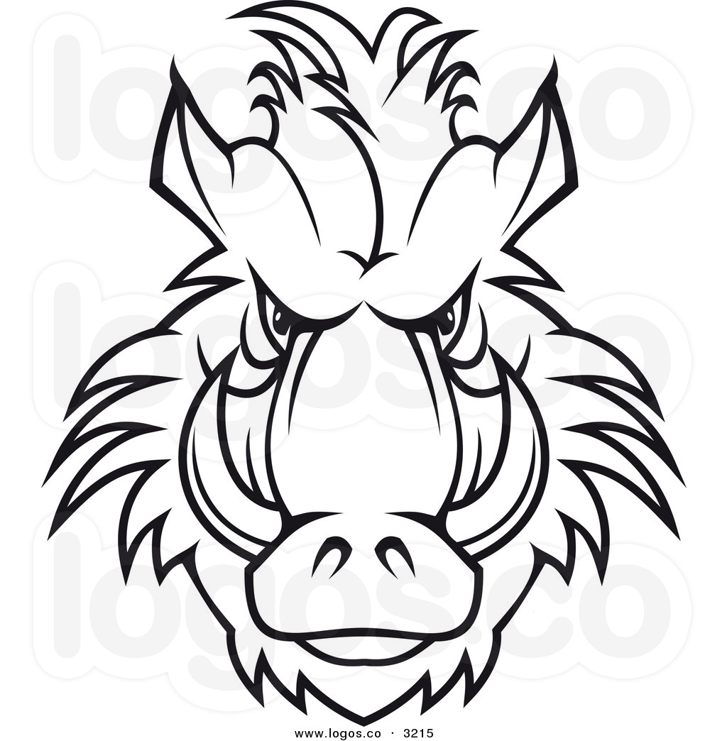 Clipart Pig Black And White