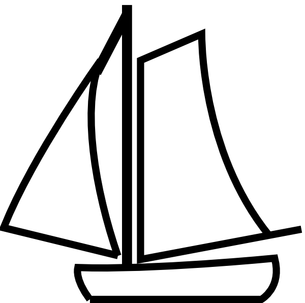 Ship Black And White Clipart