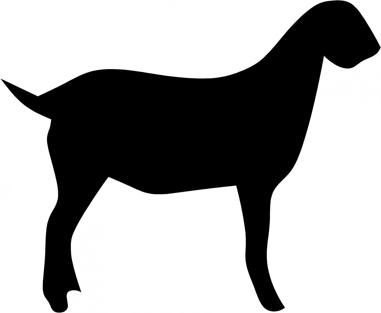 Boer Goat Silhouette | Clipart Panda - Free Clipart Images