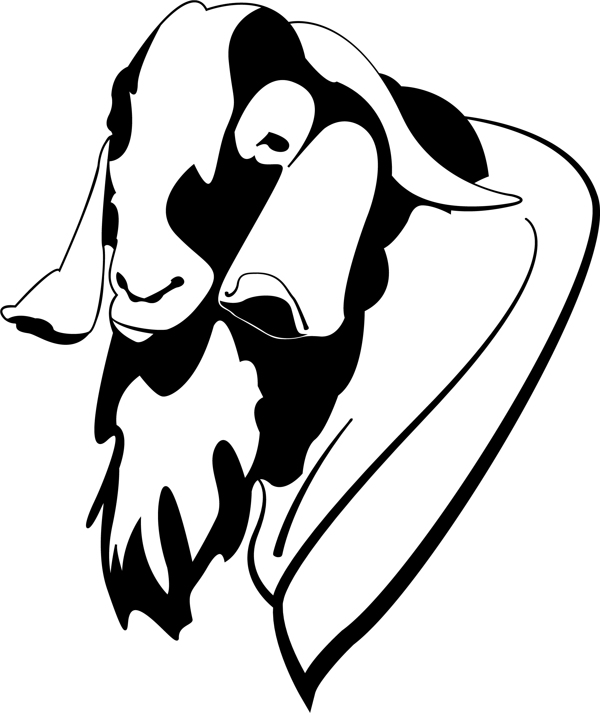 Boer Goat Head | Clipart Panda - Free Clipart Images